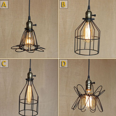 American Loft Iron Art Pendant Lights Industrial Vintage Lighting For Living Dining Room Bar Hanging Lamp Lamparas Colgantes<br>