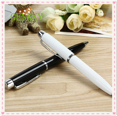 metal main-part ballpoint pen Rotating Business office Writing lubrication free shipping
