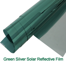 One Way Mirror Green Silver Sun Control Window Tint Film Sun Reflective Heat Rejection Window Film 1.52mx15m/5ftx50ft