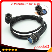 Car Cable For MB STAR C4 14pin Cable Only use for Benz SD Connect Compact 4 Multiplexer 14pin Connect Diagnostic Tool Cable