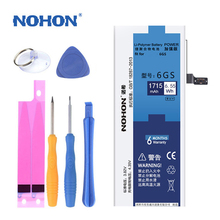 Original NOHON Battery For Apple iPhone 6S 6GS Replacement Phone Li Batteries High Capacity 1715mAh Free Tools Retail Pacakge