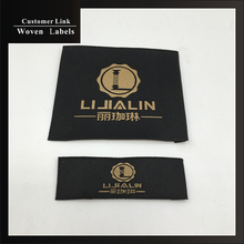 custom gigh-density brand ladies label sewing on men's clothes woven label customized logo tidy edges fabric cloth label