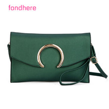 fondhere 2017 Women Leather Handbags Frame Bag Messenger Bags Candy Color Shoulder Bags