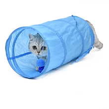 Pet Cat Play Tunnel Funny Cat Long Tunnel Kitten Play Toy Collapsible Bulk Cat Toys PlayTunnel(China)