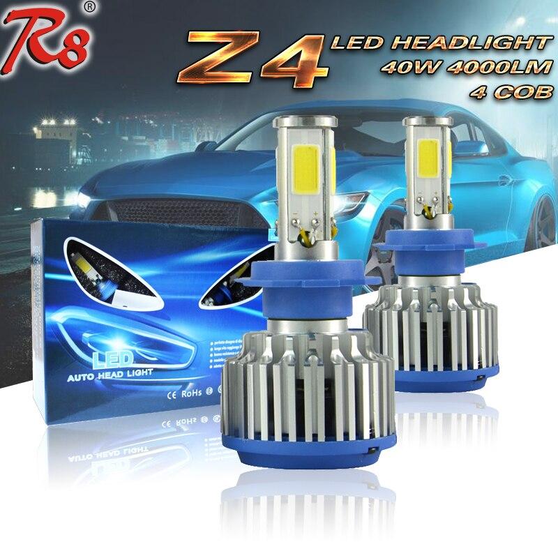 Factory-Sales Directly Z4 12V 40W 4000LM Universal Super Bright External Lights Car LED Headlights/ Car LED Lamp /LED Bulb H7<br><br>Aliexpress