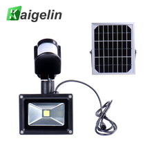 Solar Sensor LED Floodlight 10W Integrated Lamp Beads 12V 700LM IP65 Cold White Sun Energy Light Doorway Outdoor Lighting(China)