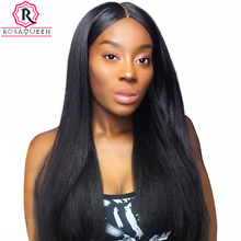Rosa Queen 250% Density Lace Front Human Hair Wigs For Black Women Pre Plucked With Baby Hair Brazilian Straight Remy Hair