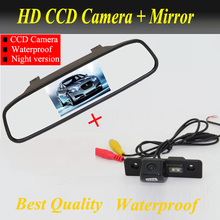 High Resolution Car Rear View camera Mirror Monitor And Ccd Camera For SKODA ROOMSTER OCTAVIA TOUR FABIA Parking Assistant(China)