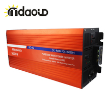3000W 12V/24V/48V TO AC 110V/230V PURE SINE WAVE POWER INVERTER CONVERTER WITH 20a BATTERY CHARGER Automatic Transfer(China)
