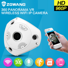 ZGWANG 960P HD 360 Degree VR Panorama Monitor baby WiFi Wireless Camera Night Vision CCTV Camera Home Security camara ip Cam