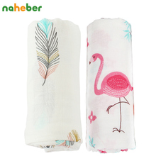 2pcs/Set Baby Blanket Bamboo Cotton Muslin Baby Swaddles For Newborns Double Layer Gauze Bath Towel Baby Wraps Stroller Cover(China)