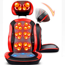 Electric Heating Back Massager Vibra Cervical Massage Device Multifunction Pillow Neck Household Full-body Massage Chair(China)