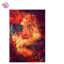 ANGEL'S HAND online art abstract art 5d diamond painting Cross Stitch Diamond Mosaic Pictures Living Room Diamond Embroidery Dia(China)