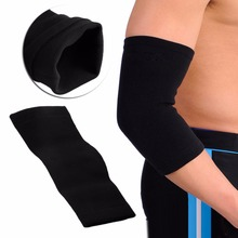 Black Elastic Sports Elbow Sleeve Brace Support Band Bandage Pad Protection