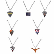 Mix Styles Football sports san diego chargers giants cleveland browns buffalo bills kansas city chiefs texas longhorns necklace(China)