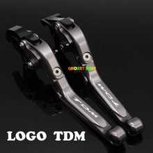 With Logo(TDM )CNC New Adjustable Motorcycle Brake Clutch Levers For YAMAHA TDM 850 TDM850 1991 92 93 98 99