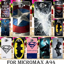 Silicone Case For Micromax A94 A104 Canvas Fire 2 A093 A107 A79 AQ5001 D303 Q380 E313 D320 D303 Q392 Batman Captain America Logo