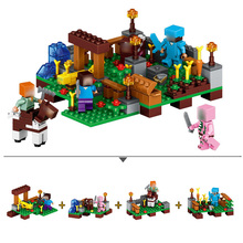 Hot Sale Model Blocks 350+PCS Bricks Compatible With Legoing Minecrafted Village Building Blocks Birthday Gift Toys For Children(China)