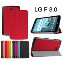 leather stand folio smart tablet case FOR LG G Pad GPad F 8.0 F8.0 V495 V496 8 inch tablet cover case+screen stylus pen(China)
