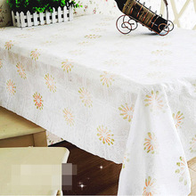 PVC Tablecloth Dining Table Plastic Cover Coffee End Table Cloth Waterproof Round Square Rectangle Custom Made 5 Patterns Flower