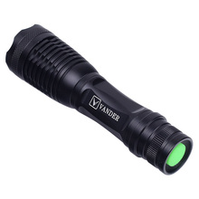 VANDER LIFE LED Flashlight Torch XM-L T6 5modes 2000 Lumens Flashlight for Cycling,Camping,Climbing,Hiking(black)(China)