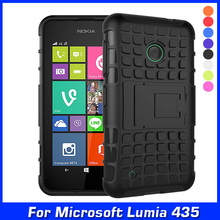 Luxury High Quality Shock Proof Silicone + Hard Shell Cell Phone Case Cover For Nokia Lumia 530 Dual SIM Case Back Cover & Gift(China)