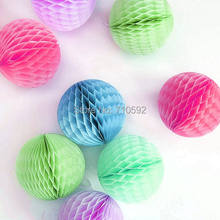 Buy Various Colours 8cm Lot 100 Tissue Paper Honeycomb Balls Paper Hanging Balls Honeycomb Paper Home Wedding Party Decoration for $17.80 in AliExpress store
