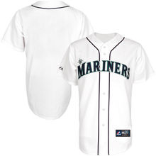 MLB Men's Seattle Mariners Baseball White Authentic Player Cool Base Jersey(China)