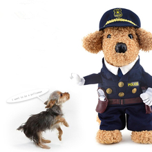 Dogbaby Funny Pet Cat Dog Costume Cosplay With Dog Hat Small Dog Puppy Party Uniform Suit Jacket Set Clothes(China)