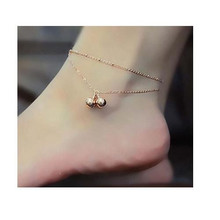 Atreus Wholesale 1pc New Brand Metal Bell Anklets Chain Rose Gold Color Fashion Vintage Jewellery/Jewelry For Women