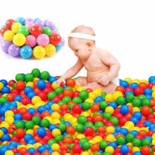 100pcs Colorful Ball Thicken Soft Plastic Ocean Balls Baby Kid Water Pool Stress Air Ball Swim Pit Toys Outdoor Fun Sports Gift