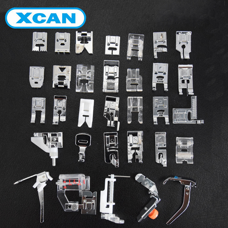 New Domestic Sewing Machine Presser Foot Feet Kit Set 32pcs Free Shipping For Brother Singer Janome<br><br>Aliexpress