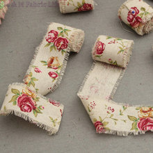 5cm*10yards flower print picking cloth ribbon patchwork fabric trim DIY party suppliers tabel decoration