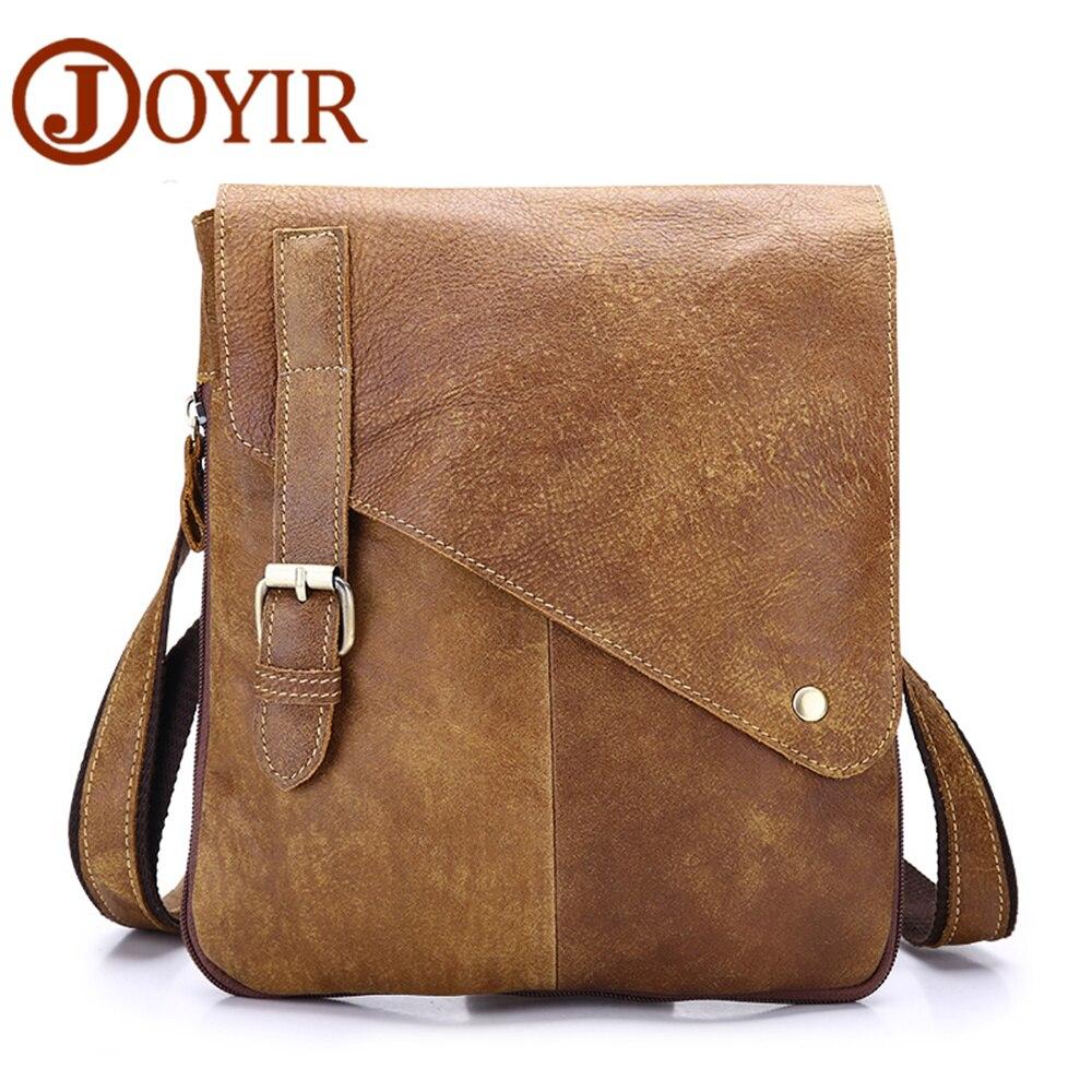 JOYIR Luxury Cow Leather  Messenger Bag Genuine Leather Men Bag Travel Crossbody Bag Brand Designer Shoulder Bag For Male<br>