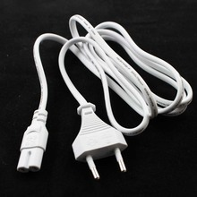 New Arrival white EU 2-Prong VDE plug power line Laptop AC Adapter Power Cord Cable Lead 2 Pin Black 1.5m wholesale
