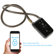 Super Intelligent Smart Waterproof Bluetooth Lock Chain Smart Latest Anti Theft Alarm Keyless Phone APP Control Lock Access(China)