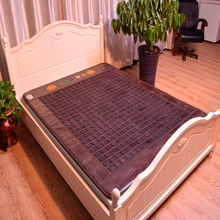 Hot Jade Tourmaline Electric Heating Massage Mattress with Far Infrared Theraphy High Quality Products Directly from Factory(China)