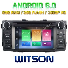 WITSON 4GB RAM 32GB ROM Android 6.0 Octa 8 Core CAR DVD for TOYOTA HILUX 2012 with GPS NAVIGATION STEREO+DVR/WIFI+DSP+DAB+OBD+3G(China)