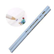 2pcs Professional Wax Dotting Pen Nail Art Rhinestones Gems Picking Crystal Tools Pencil Pen Easily Pick Up Pen Manicure LATR36