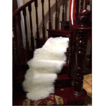 Soft Long Faux Fur Shaggy Fluffy Chair Seat Cushion Sofa Cover Carpet Mat Area Rug Bedroom Home Decoration Solid Plain White(China)