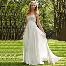 Plus Size Robe de Marriage Chiffon Beach Maternity Wedding Dresses Bohemian 2016 Crystals Bridal Gowns For Pregnant Women