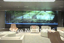 Free shipping 1.524m*16m self adhesive holographic film 3d holographic projection screen film for shop advertising