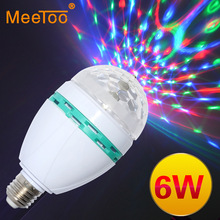 New E27 Colourful Change Led Bulb Lamps Auto Rotating lighting AC85-265V for holiday lighting /KTV Decoration/Bar Lighting