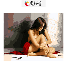 Diy Painting Picture Drawing By Numbers Colorful Canvas Nude Painting Frameless Handmade by Number for Living Room