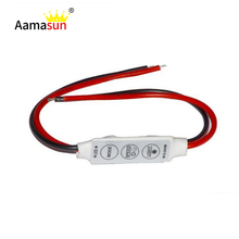 Dynamic Models Dimmer Led Strip Controller Switch Mini DC 12V 3 Key For Single Color 3528 5050 5630 Strip Lighting Free shipping()
