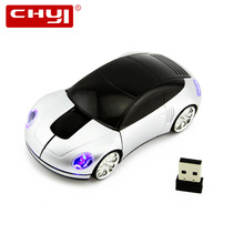 Wireless Mouse Computer Mice Gaming Mouse 1600DPI USB Optical Porsche Car Shape Mause 3 Color Mouse sem fio for PC gamer Laptop(China)
