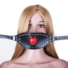 Buy Bondage Gear Mouth Gag Mask Female Slave Trainer Ball Gags Bondage Mouth Muzzles Adult Toys Couples Women Sex Products
