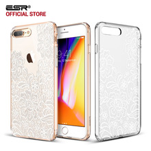 Case for iPhone 8/8 Plus, ESR Totem Henna Pattern One Piece Hybrid Case Soft TPU Patterned Hard Back case for iPhone8/7/7Plus/8P(China)