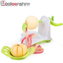 BalleenShiny Practical Automatic Hand Fruit Potato Peeler Sharp Blades Spiralizer Manually Apple Peeler Cutter Machine Home Gift(China)
