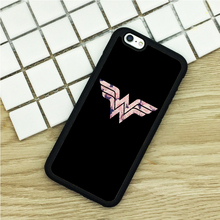 Soft TPU Phone Cases For iPhone 6 6S 7 Plus 5 5S 5C SE 4 4S ipod touch 4 5 6 Cover Shell Wonder Woman Logo Design